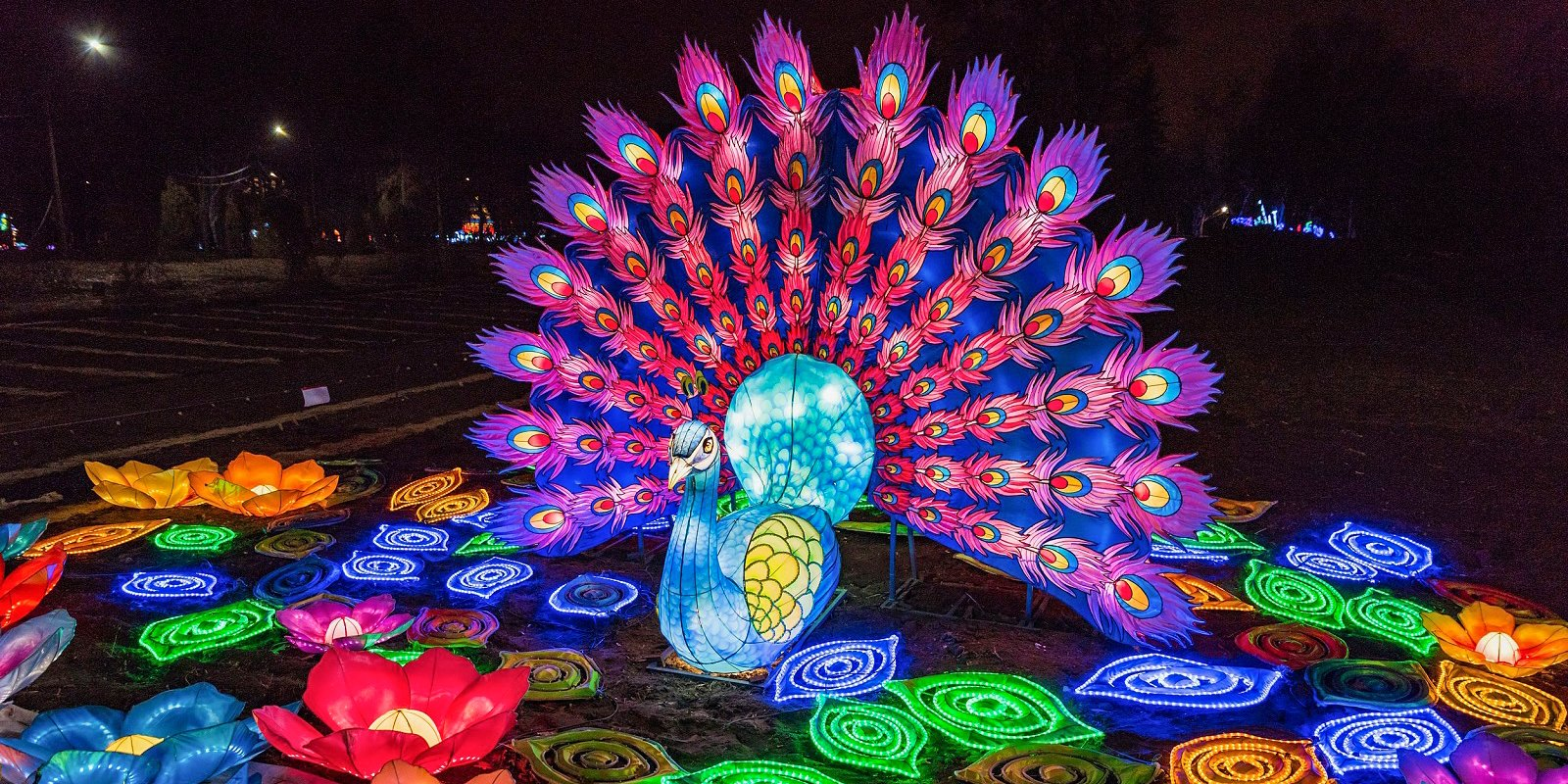 Кусочек китайских традиций в Сокольниках: фестиваль волшебных китайских фонарей