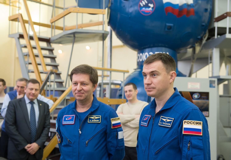 Интервью перед стартом: беседа с экипажем МКС-63