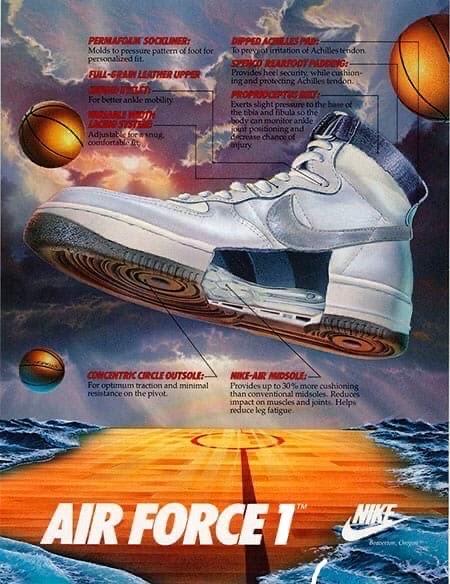 Nike Air Force: история одних из самых продаваемых кроссовок Nike.