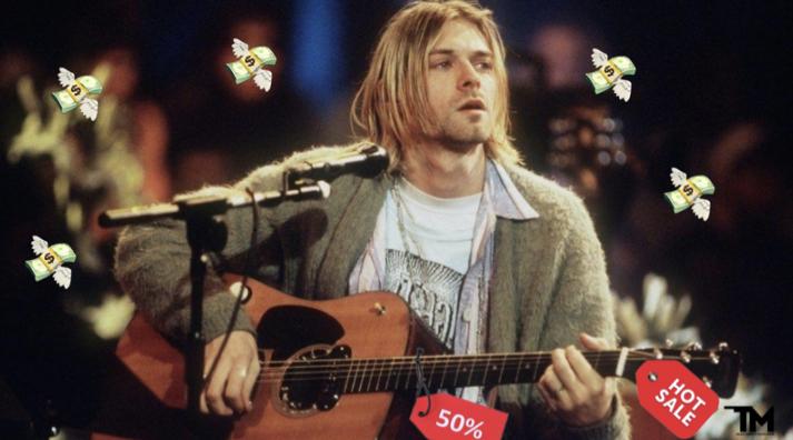 Легендарную гитару Кобейна продали за рекордную сумму