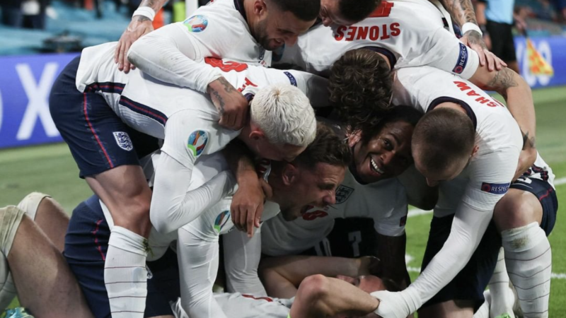Сборная Англии впервые выходит в финал ЕВРО